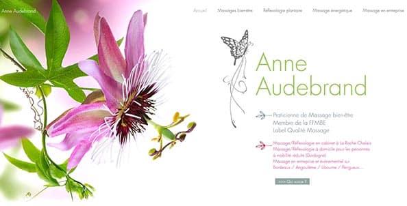 Site internet Anne Audebrand Massage bien être