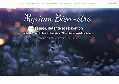 Site Myriam Bien être