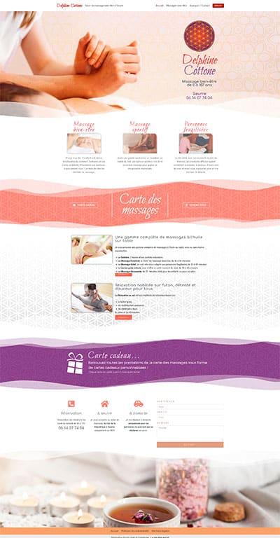 Site Delphine Cottone Massage