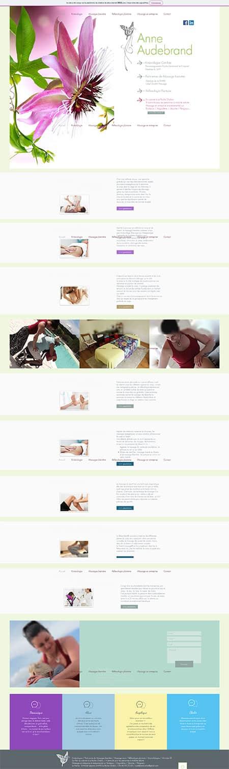 Site internet Anne Audebrand