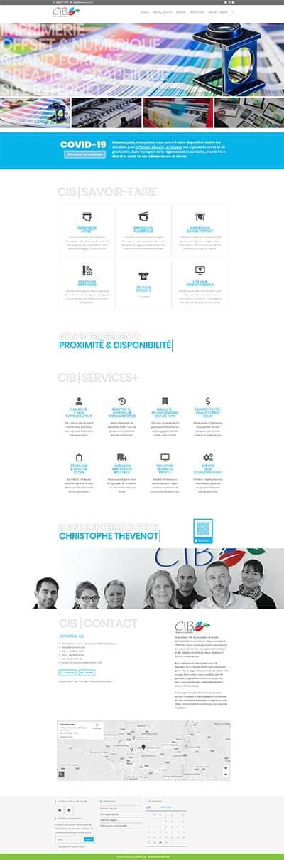 Site CIB imprimerie Dijon La solution est ici