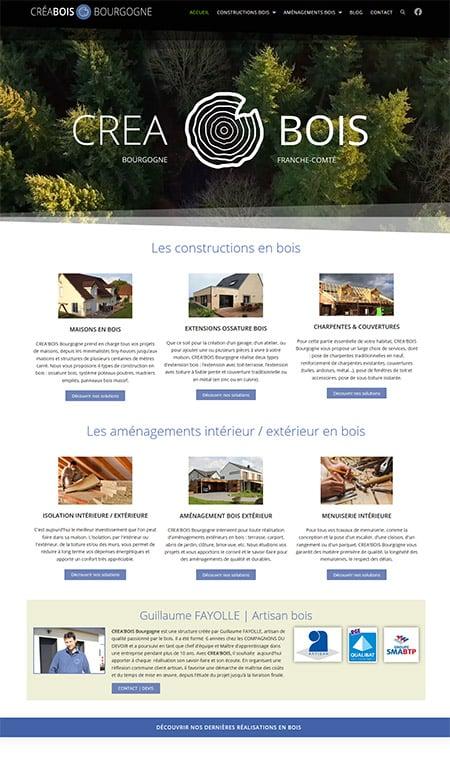Site Créa bois Bourgogne
