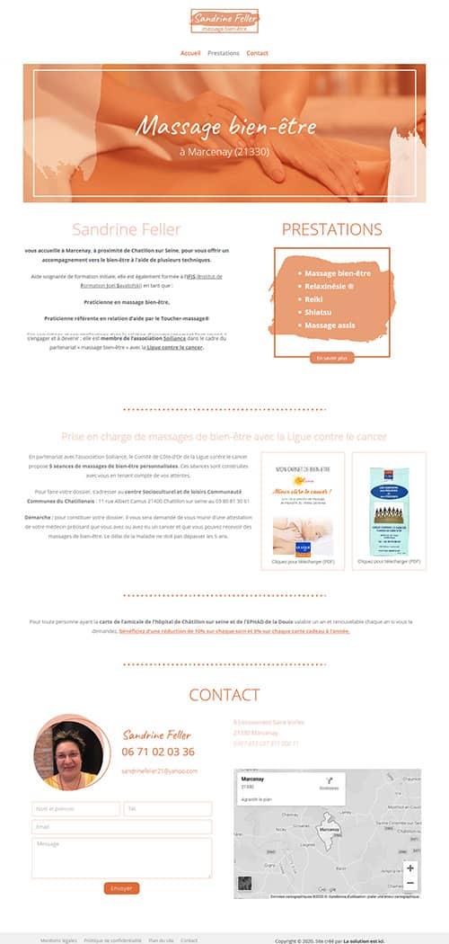 Site Sandrine Feller Massage