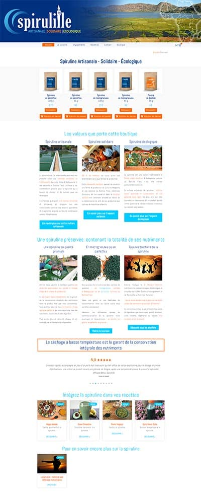 Site wordpress ecommerce spiruline la solution est ici