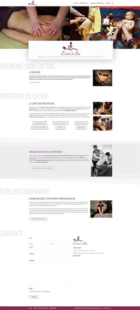 Site internet - Massage Eveil à Soi