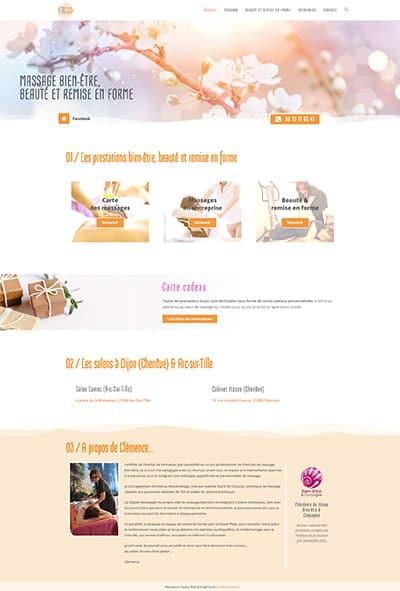 site wordpress Itozen massage