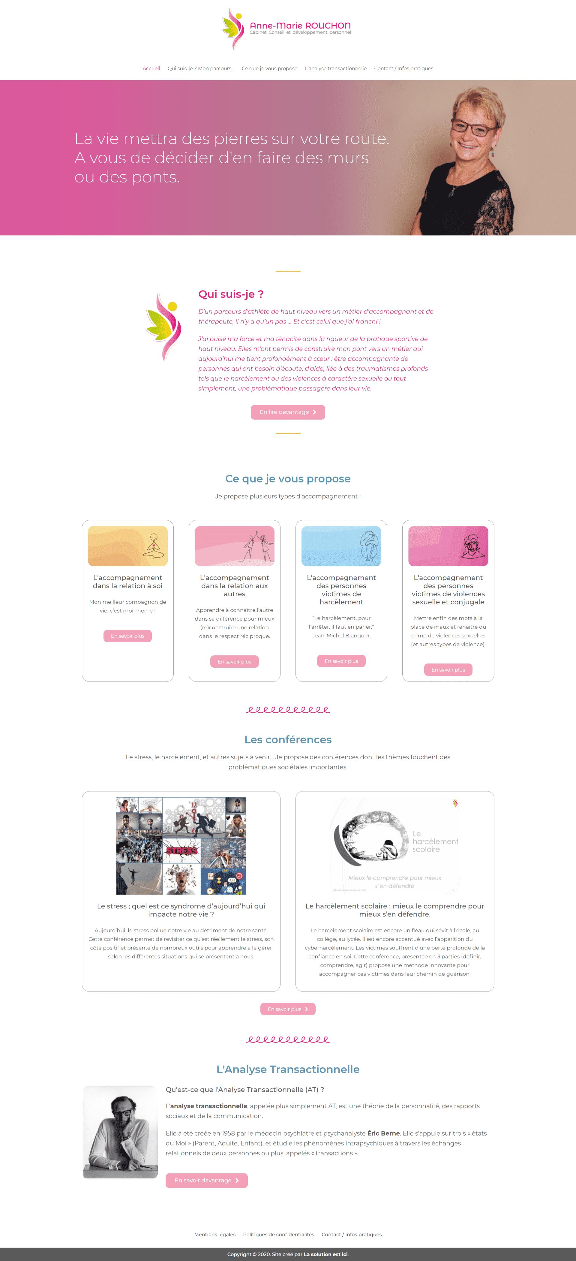 site internet Anne-Marie Rouchon