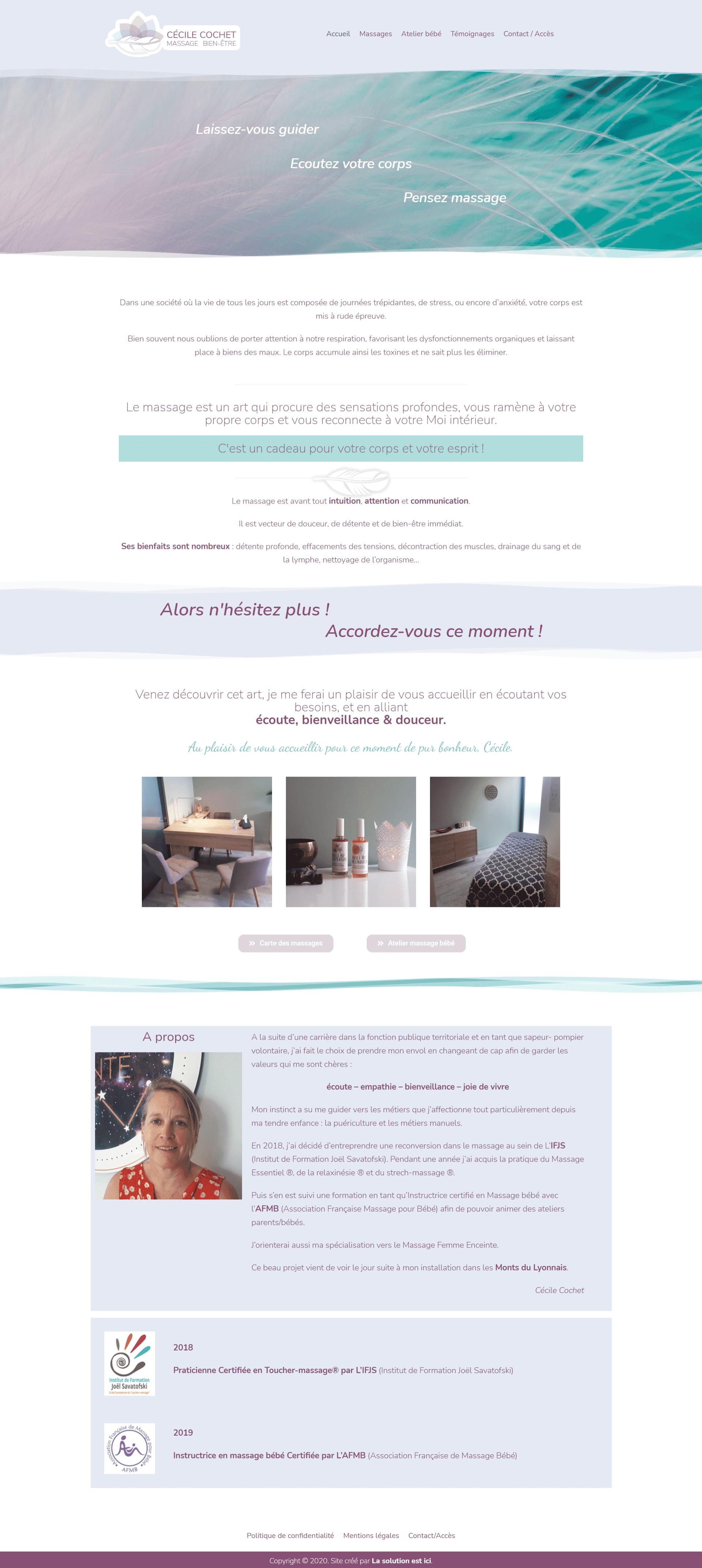 site internet de Cécile Cochet