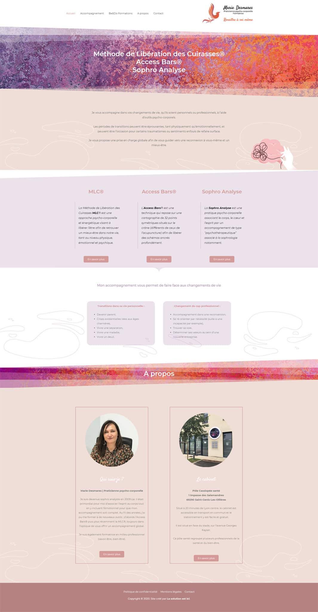 site internet Marie Desmares
